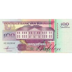 1991 - Suriname P139a 100  Gulden banknote