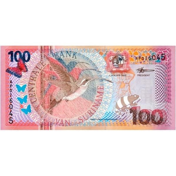 2000 - Suriname P149 100 Gulden banknote