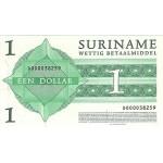 2004 - Suriname P155 1 Dollar banknote