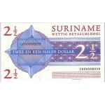 2004 - Suriname P156 2 1/2 Dollars banknote
