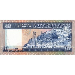 1985 - Swaziland  Pic 10c          10 Lilangeli banknote