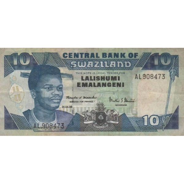 1987 - Swaziland  Pic 14          5 Lilangeli banknote