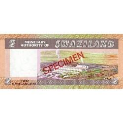 1974 - Swaziland  Pic 1s    1 Lilangeli banknote specimen