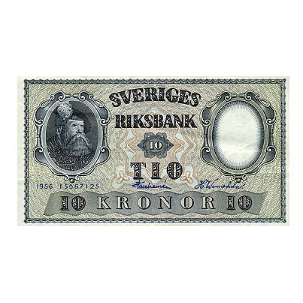 1953 -  Sweden  Pic  43 a        10 Kronor banknote