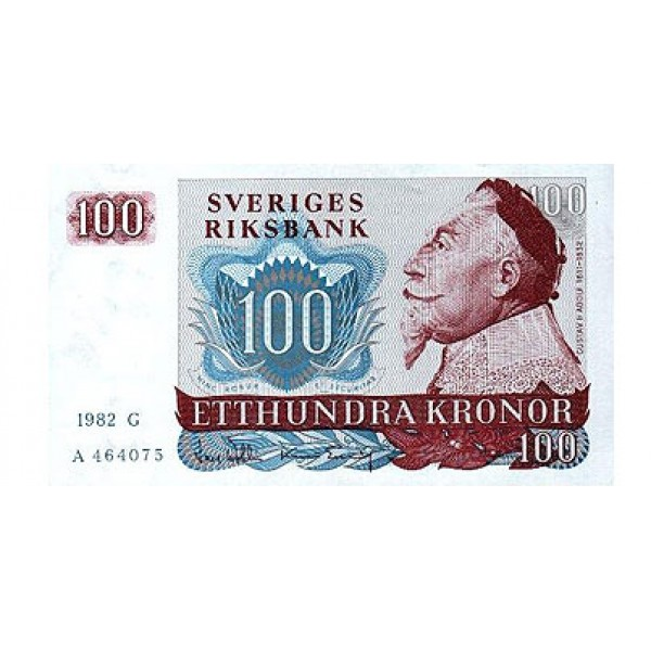 1963 -  Sweden  Pic  54c       100 Kronor banknote