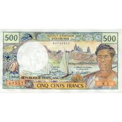 1985 - Tahiti (Papeete) P25d 500 francs banknote