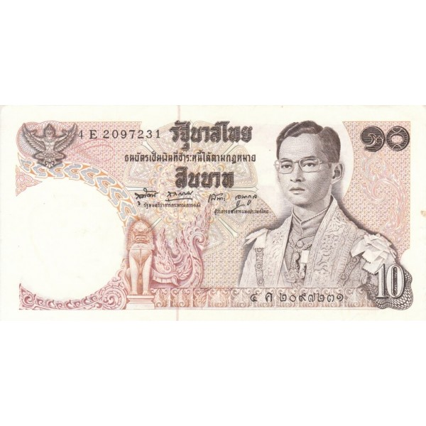 1969 - Tailandia   Pic  83     billete de 10 Bath