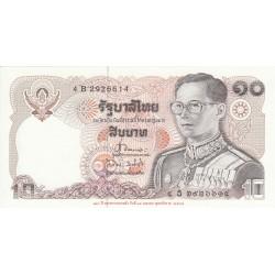 1980 - Thailand  Pic  87      10 Bath banknote