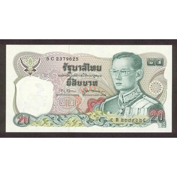 1981 - Tailandia   Pic  88     billete de 20 Bath