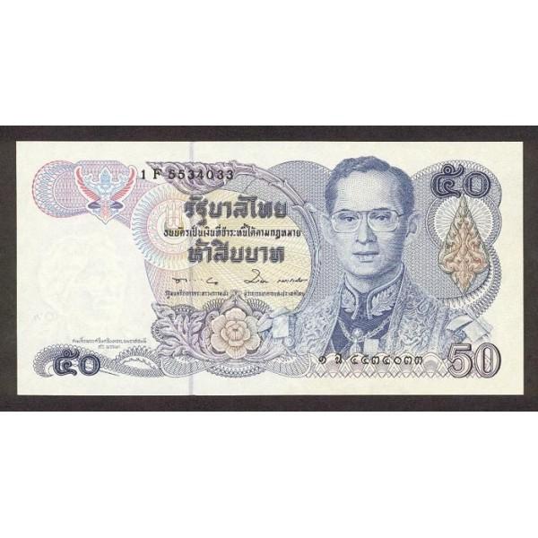 1985 - Tailandia   Pic  90b     billete de 50 Bath