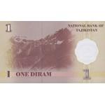 1999 - Tajikistán Pic 10  billete de 1Diram