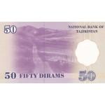 1999 - Tajikistán Pic 13  billete de 50 Dirams