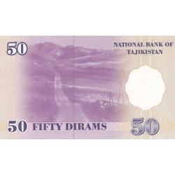 1999 - Tajikistan   Pic  13      50 Dirams  banknote