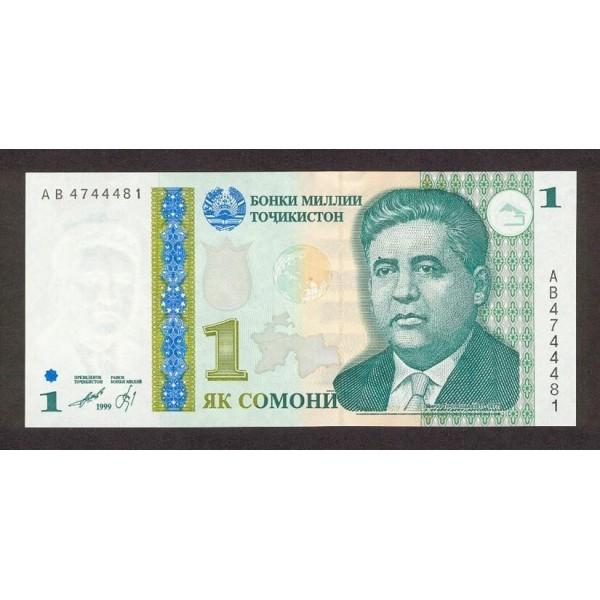 1999 - Tajikistán Pic 14  billete de 1 Somoni