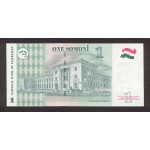 1999 - Tajikistan   Pic  14      1 Somoni  banknote
