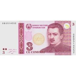 2010 - Tajikistan   Pic  20      2 Somoni  banknote