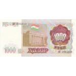 1994 - Tajikistán Pic 9 billete de 1000 Rubles