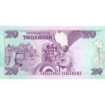 1987 - Tanzania  Pic  15         20 Shilings  banknote