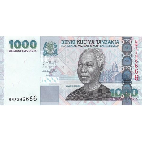 2003 - Tanzania  Pic 36a     1000 Shilings  banknote