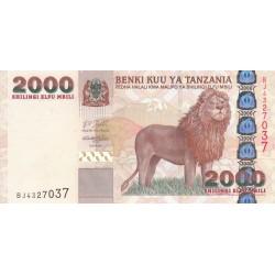2007 - Tanzania  Pic 37a     2000 Shilings  banknote