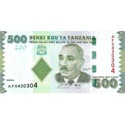 2010 - Tanzania  Pic 40    500 Shilings  banknote