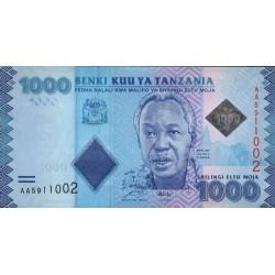 2010 - Tanzania  Pic 41    1000 Shilings  banknote