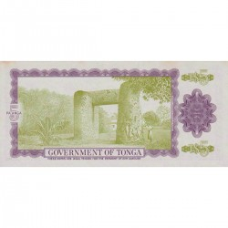 1978 - Tonga P21b CS1 5 Pa´anga banknote