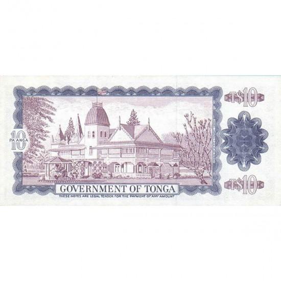 1978 - Tonga P22b CS1 10 Pa´anga banknote