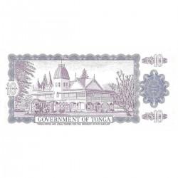 1989 - Tonga P22c 10  Pa´anga banknote
