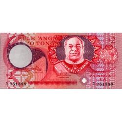 1995 - Tonga P32a 2 Pa´anga banknote