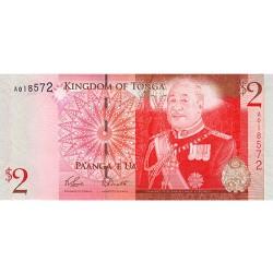 2008 - Tonga P38 2 Pa´anga banknote