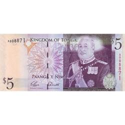 2008 - Tonga P39 5 Pa´anga banknote