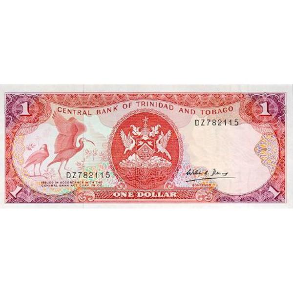 1985 - Trinidad y Tobago  Pic  36c      1 Dollar banknote