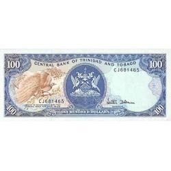 1985 - Trinidad y Tobago  Pic 40c    100 Dollars S.6  banknote