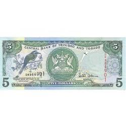 2002 - Trinidad y Tobago  Pic  42a      5 Dollars S.7  banknote