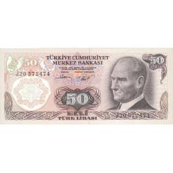1976 - Turkey   Pic  188               50 Liras  banknote