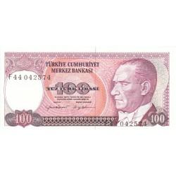 1984 - Turkey   Pic  194a              100 Liras  banknote