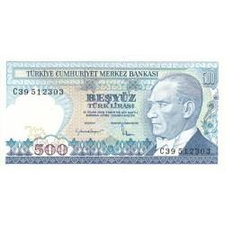 1983 - Turkey   Pic  195           500 Liras  banknote