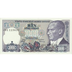 1986 - Turquia   Pic  196             billete de   1.000 Liras