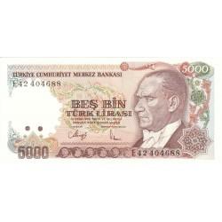 1985 - Turquia   Pic  197             billete de   5.000 Liras