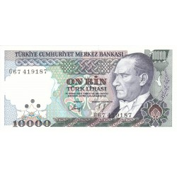 1989 - Turquia   Pic  200             billete de   10.000 Liras
