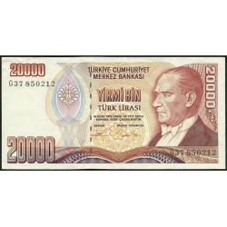 1995 - Turquia   Pic  202             billete de   20.000 Liras