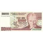 1997 - Turkey   Pic  206               100.000 Liras  banknote