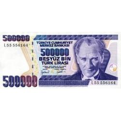 1998 - Turquia   Pic  212             billete de   500.000 Liras