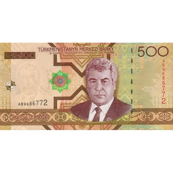 2005 - Turkmenistan PIC 18      100 Manat banknote