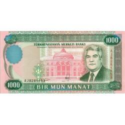 1995 - Turkmenistan PIC 8      1000 Manat banknote