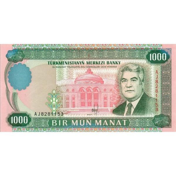 1995 - Turkmenistan pic 8 billete de 1000 Manat
