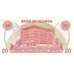1982 - Uganda PIC 17   20 Shillins banknote