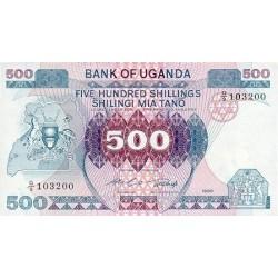 1986 - Uganda PIC 25   500 Shillins banknote