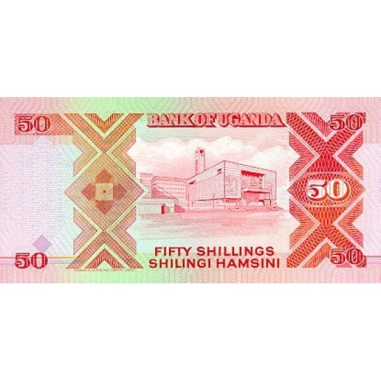 1987 - Uganda PIC 30a   50 Shillins banknote